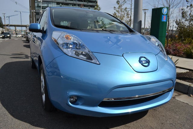 2012 nissan leaf review exterior front angle