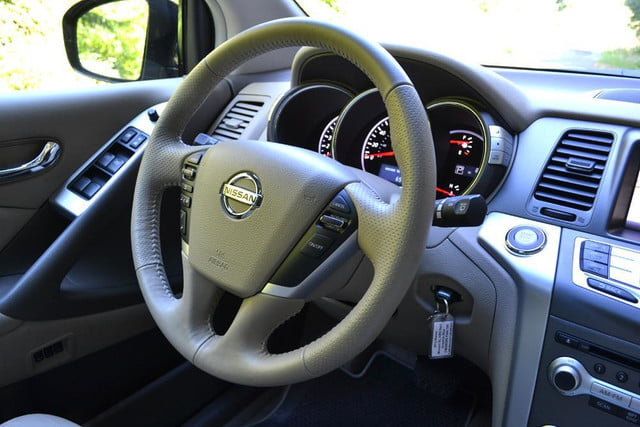 2012 nissan murano sl awd crossover review interior steering wheel