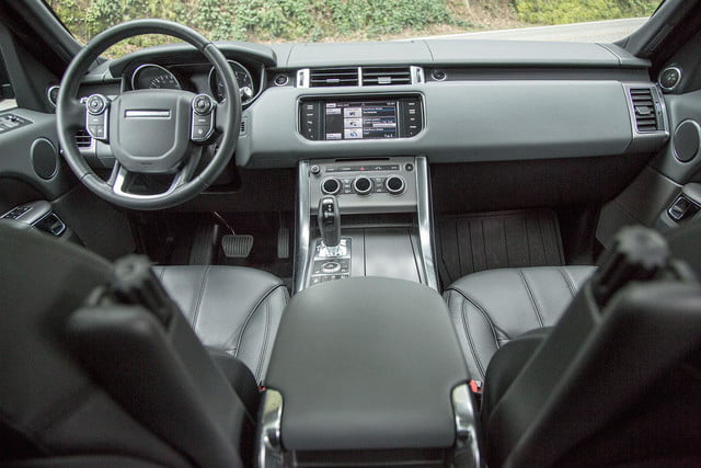 2014 Land Rover Range Rover Sport front interior from back