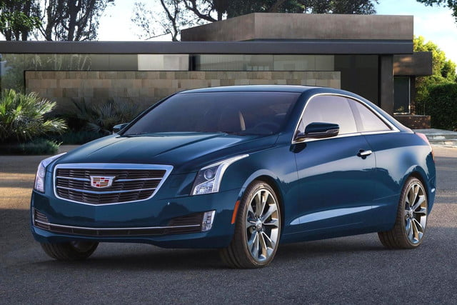 2015 Cadillac ATS Coupe news front left blue