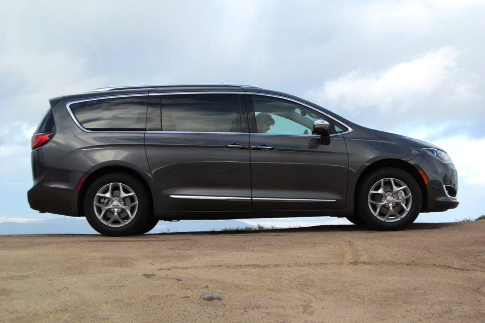 2017 chrysler pacifica first drive digital trends chrysler pacifica first drive back angle