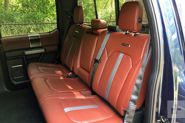 2018 Ford F 150 review rear seats