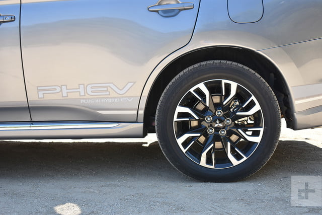 2018 Mitsubishi Outlander PHEV first drive review back left wheel