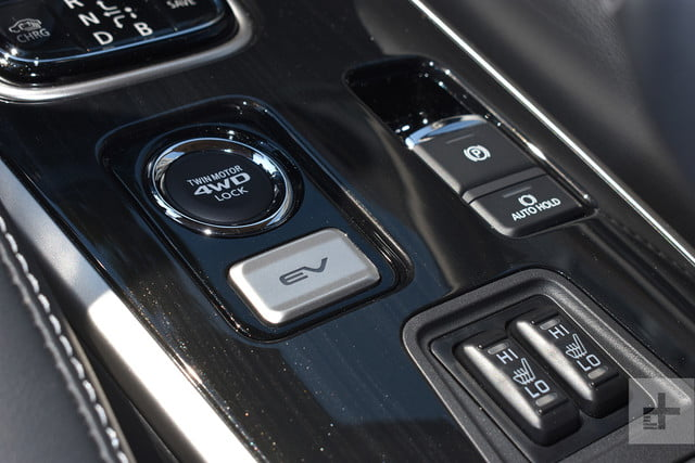 2018 Mitsubishi Outlander PHEV first drive review buttons
