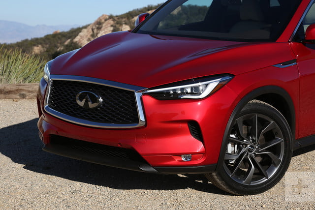 2019 Infiniti QX50 first drive review close right headlight
