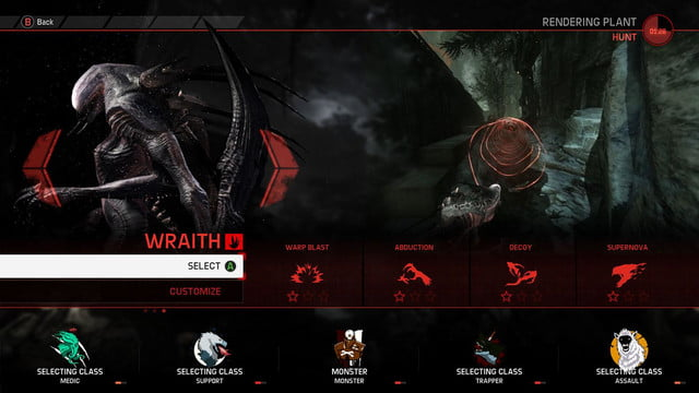evolve 2k wraith characterselect