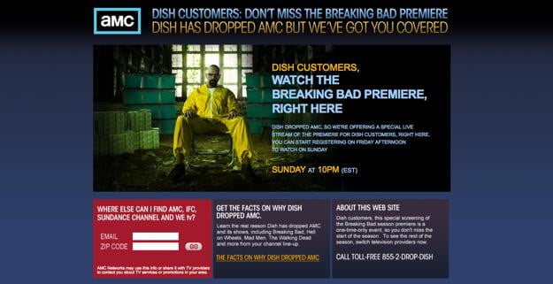 AMC to stream 'Breaking Bad' online so that Dish Network
