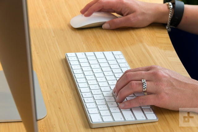 Apple iMac with Retina 5K Display review hand on mouse