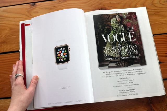 apple watch splashed across 12 pages of vogues march issue vogue ad 6108