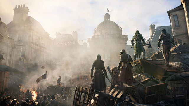assassins creed unity reveals new weapons missions team opportunities assassinsunited