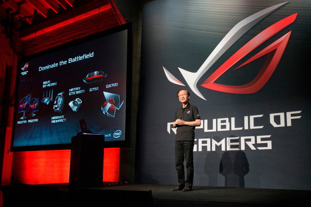 asus republic of gamers unleashed chairman jonney shih unveils complete lineup gaming innovations at the rog u