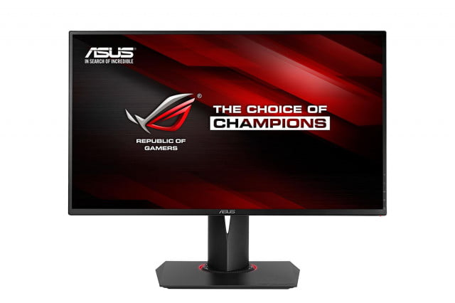 asus shows off their new rog gaming monitors at ces swift pg27aq press