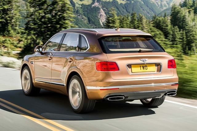 bentley says its bentayga suv can do it all but will customers bite  on road rear three quarter tracking 1