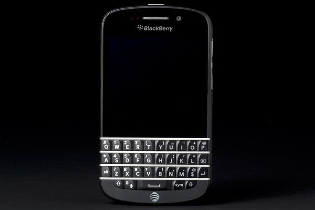 BlackBerry Q10 review front off