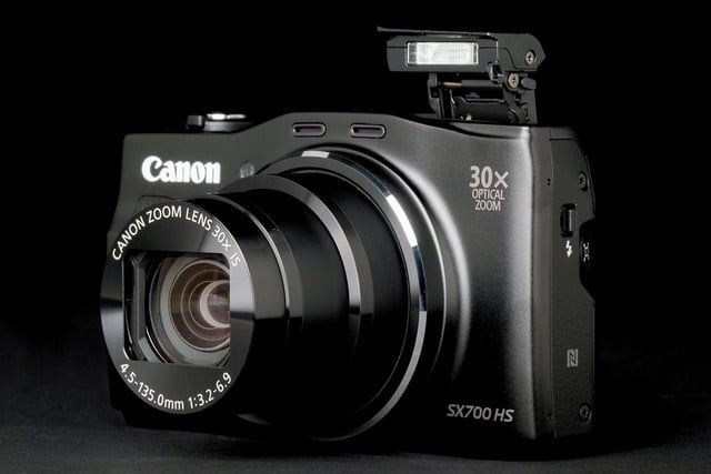 Canon PowerShot SX700 front angle
