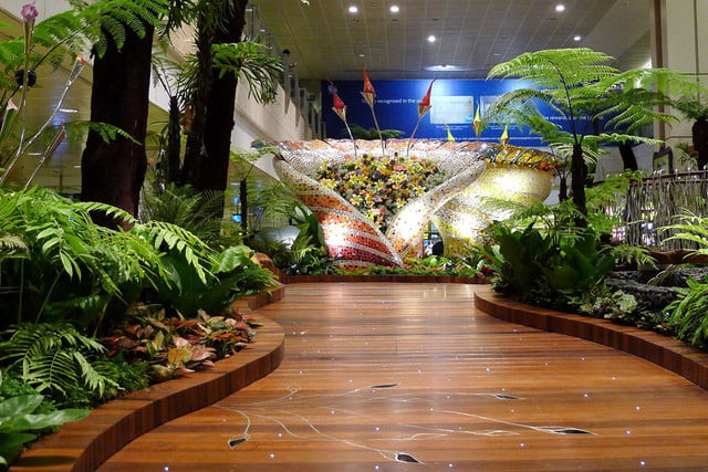 best airports for layovers changi airport the enchanted garden 03