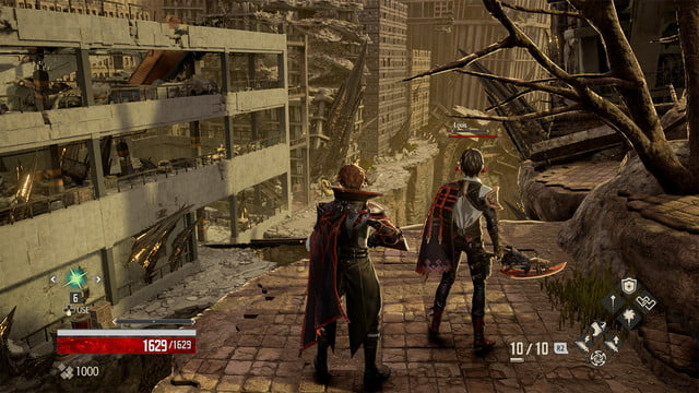 Code Vein review crumbled city sunset