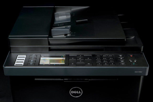 dell c1765 printer front top angle