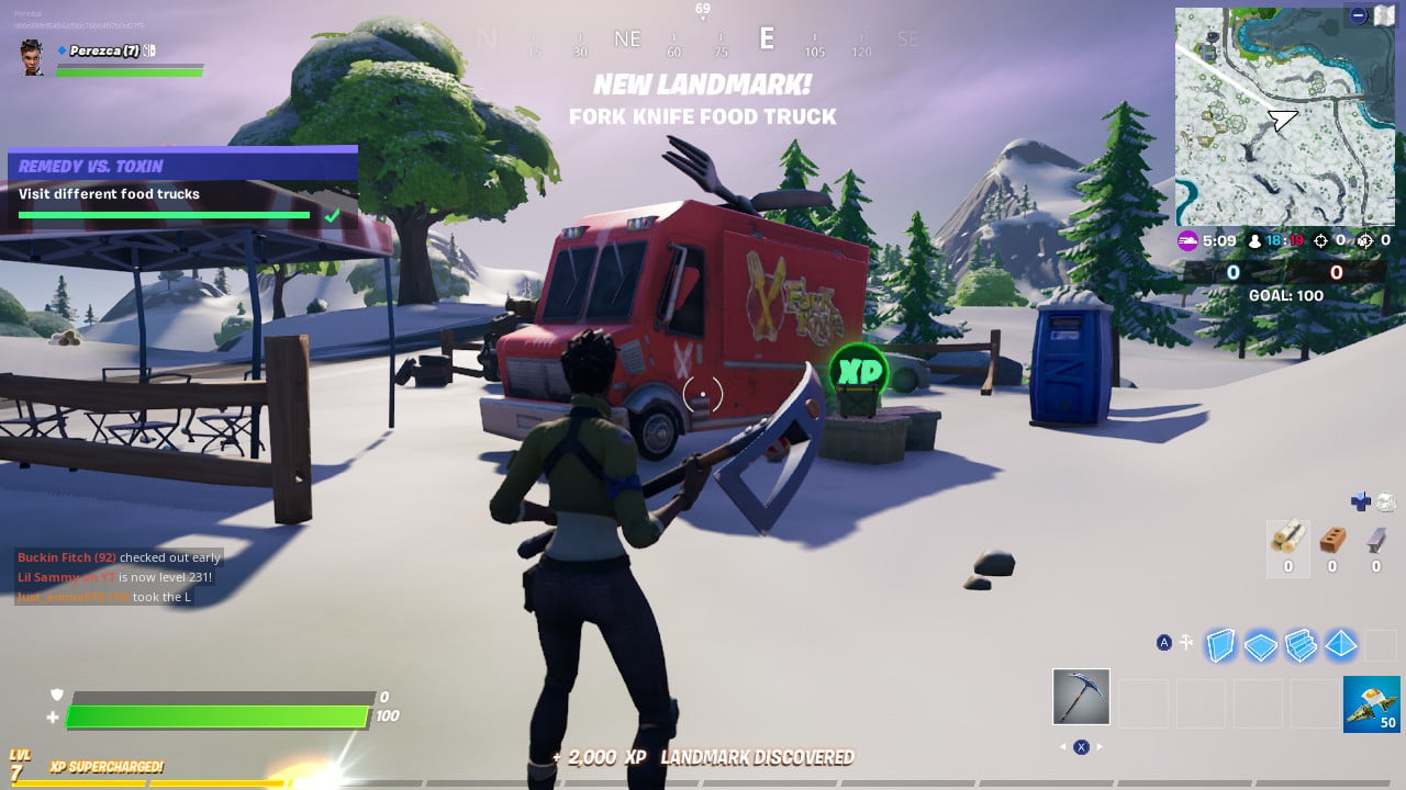Fortnite Lazy Lake Food Truck