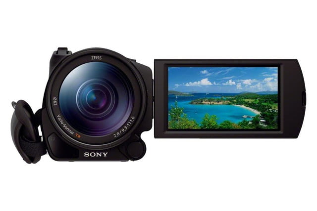 sony announces fdr ax100 4k handycam camcorder ax100b front 1200