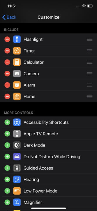 apple iphone 11 settings pro max controlcenter2