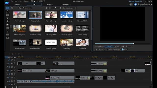 cyberlink director suite 4s new features include action cam video editing express projects enu