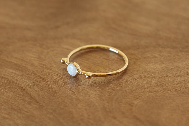 Dell Jewelry opal ball ring