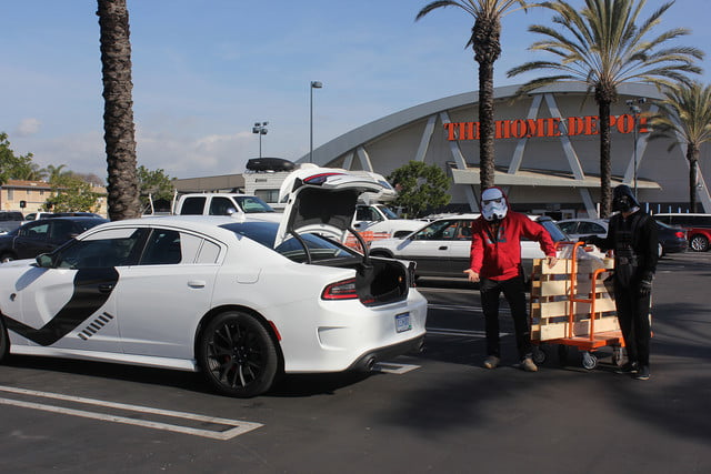 stormtroopers day off putting the galaxy on hold to enjoy dodges charger srt hellcat dodge stormtrooper 0794