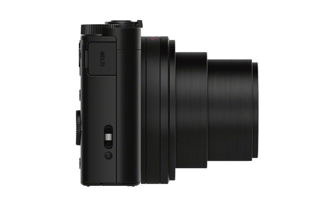 sony shows off engineering magic squeezes 30x lens and evf into compact camera dsc wx500 black side 1200