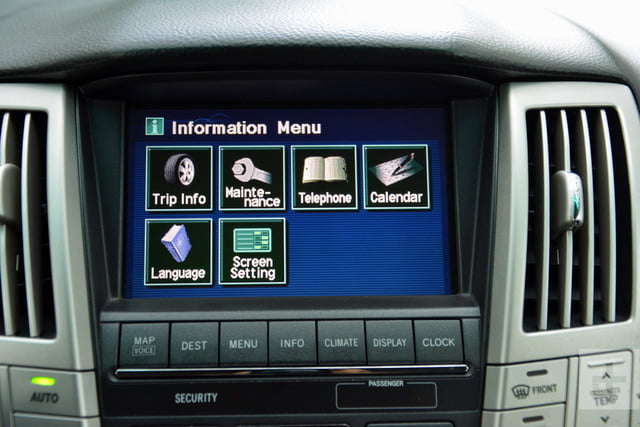 the evolution of car infotainment systems dt first gen lexus rx system 6