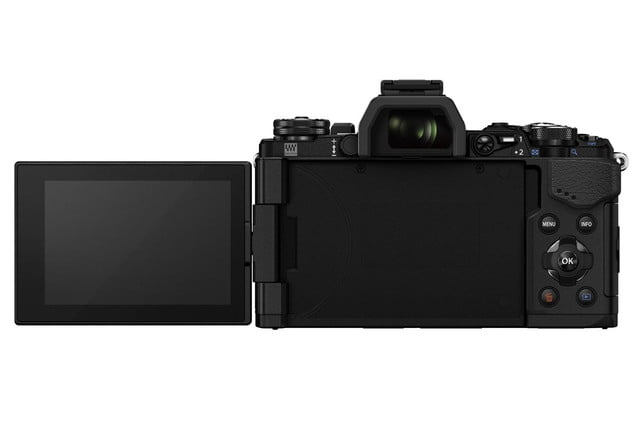 olympus e m5 mark ii puts focus movie stabilization 40 megapixel photos m5markii blk back lcd 180 backside m14 150 2