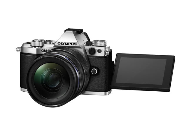 olympus e m5 mark ii puts focus movie stabilization 40 megapixel photos m5markii slv right lcd 180 backside tilt low m1240 bl