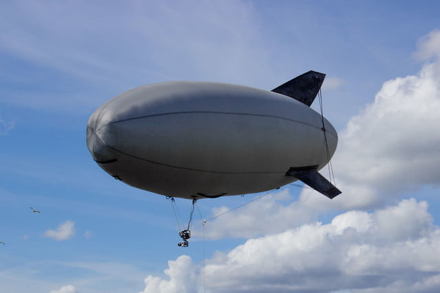 awesome tech you cant buy yet blimp drones portable theaters and more falcon  an airship for everyone