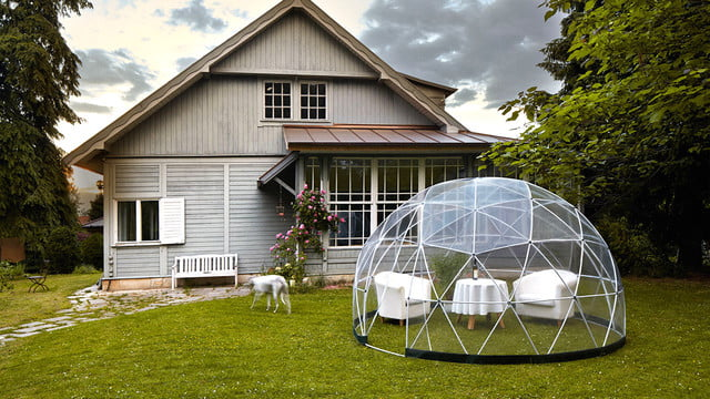 the garden igloo is a geodesic dome for your lawn 005
