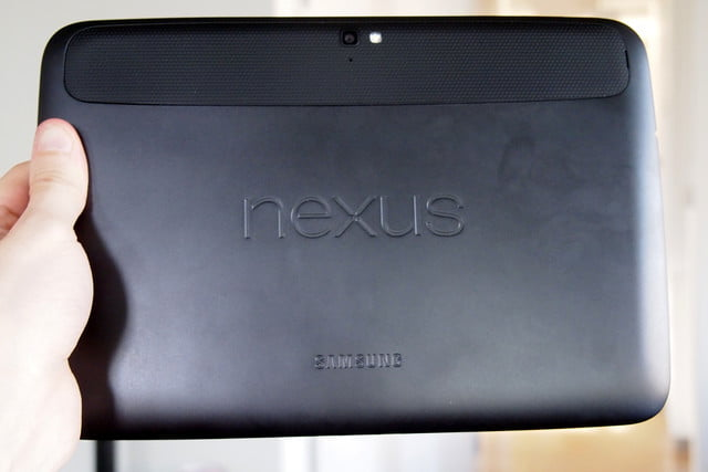 Google Nexus 10 review back android tablet