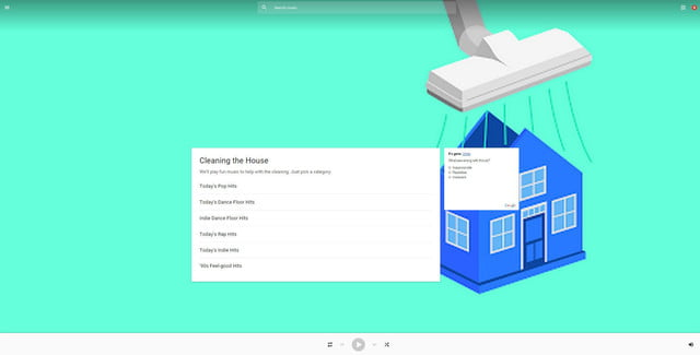 google music announces free ad supported tier play cleaning the house