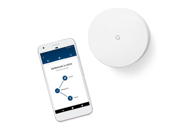 google wifi router ac1200 mesh technology control module product and phone image 1440 2x