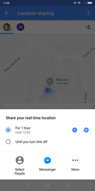 Share real-time location in Google Maps
