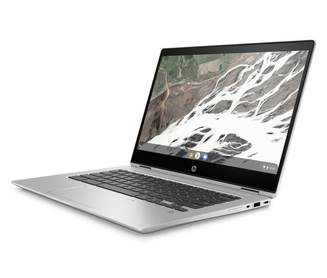 hp launches amd chromebook ces 2019 x360 14 g1 front left