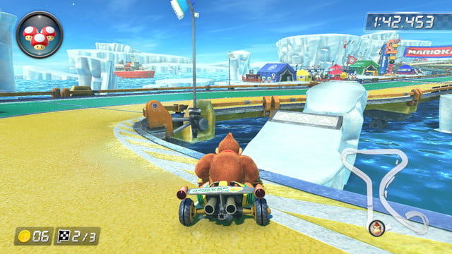 mario kart 8 shortcuts ice outpost 2