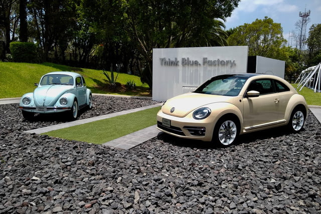 volkswagen beetle production officially ends first and third generation beetles at puebla  mexico factory