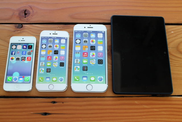 iPhone 5, iPhone 6, iPhone 6 Plus, and Kindle Fire HDX