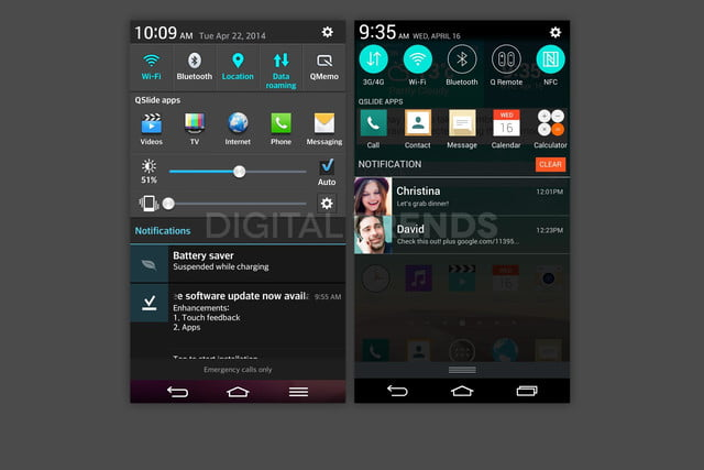 lg g3 homescreen screenshots leak exclusive vs g2 notification
