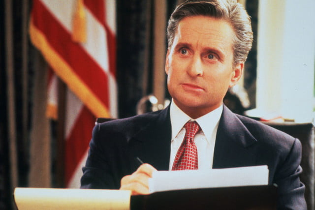 Michael Douglas as President Andrew Shepherd, The American President (1995)