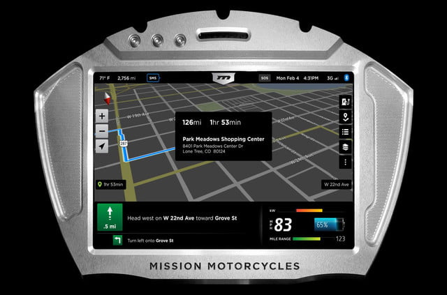 missions hot new 160hp electric motorcycles one gear plus reverse 150mph and no shifting mission moto rs dash gps map