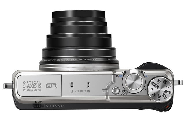 olympus stylus sh 1 is first compact camera with 5 axis stabilization slv top