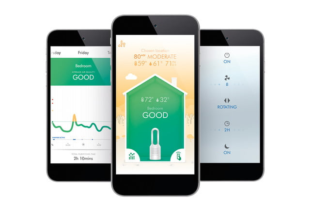 dyson pure hotcold link hot cool app screens