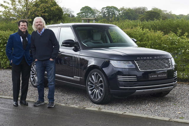 range rover astronaut edition for virgin galactic customers only  5 s richard branson and design chief gerry mcgovern