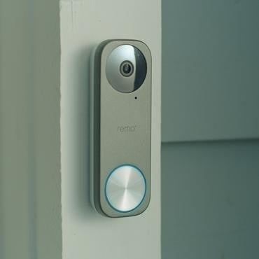 remo remobell s video doorbell installed 2 370x