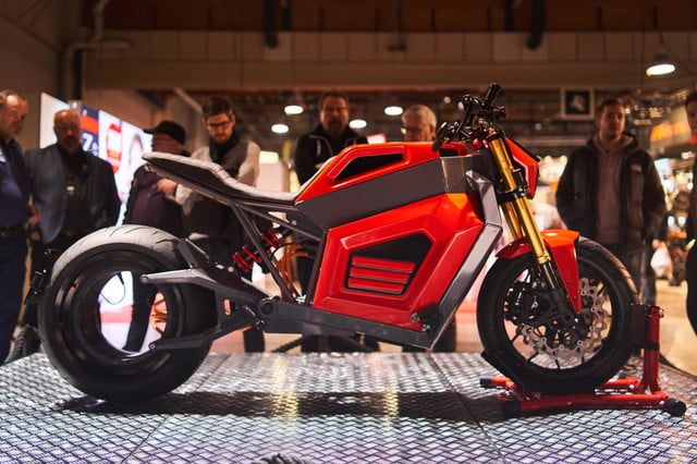 rmk e2 hubless electric motorcycle at show 01  1